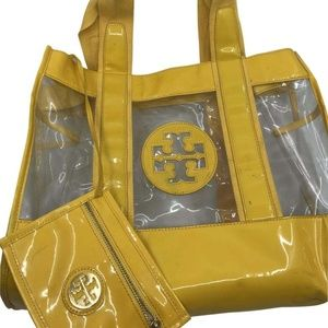 Tory Burch Large Yellow/Clear See Through w/Pouch